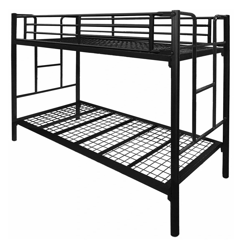 Tubeco Junee Australian Made Commercial Grade Metal Bunk Bed, King Single, Matt Black