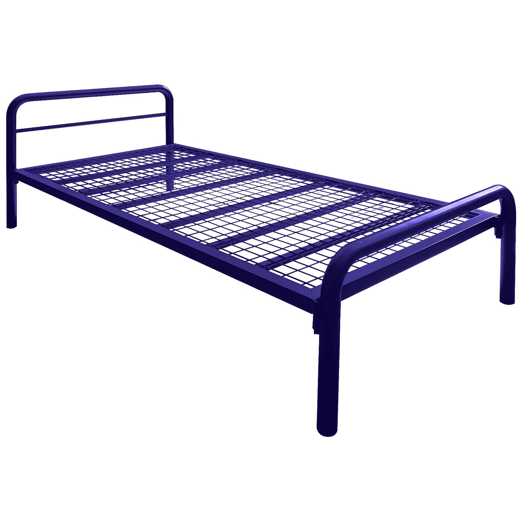 Tubeco Budget Australian Made Commercial Grade Metal Bed, King Single, Space Blue