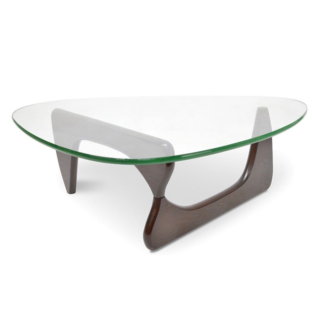 Etonnant Noguchi Coffee Table Replica   Walnut 20mm Thick Glass And 40mm Thick Base