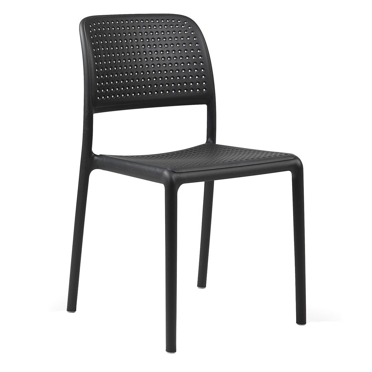 Bora Italian Made Commercial Grade Stackable Indoor/Outdoor Side Chair - Anthracite