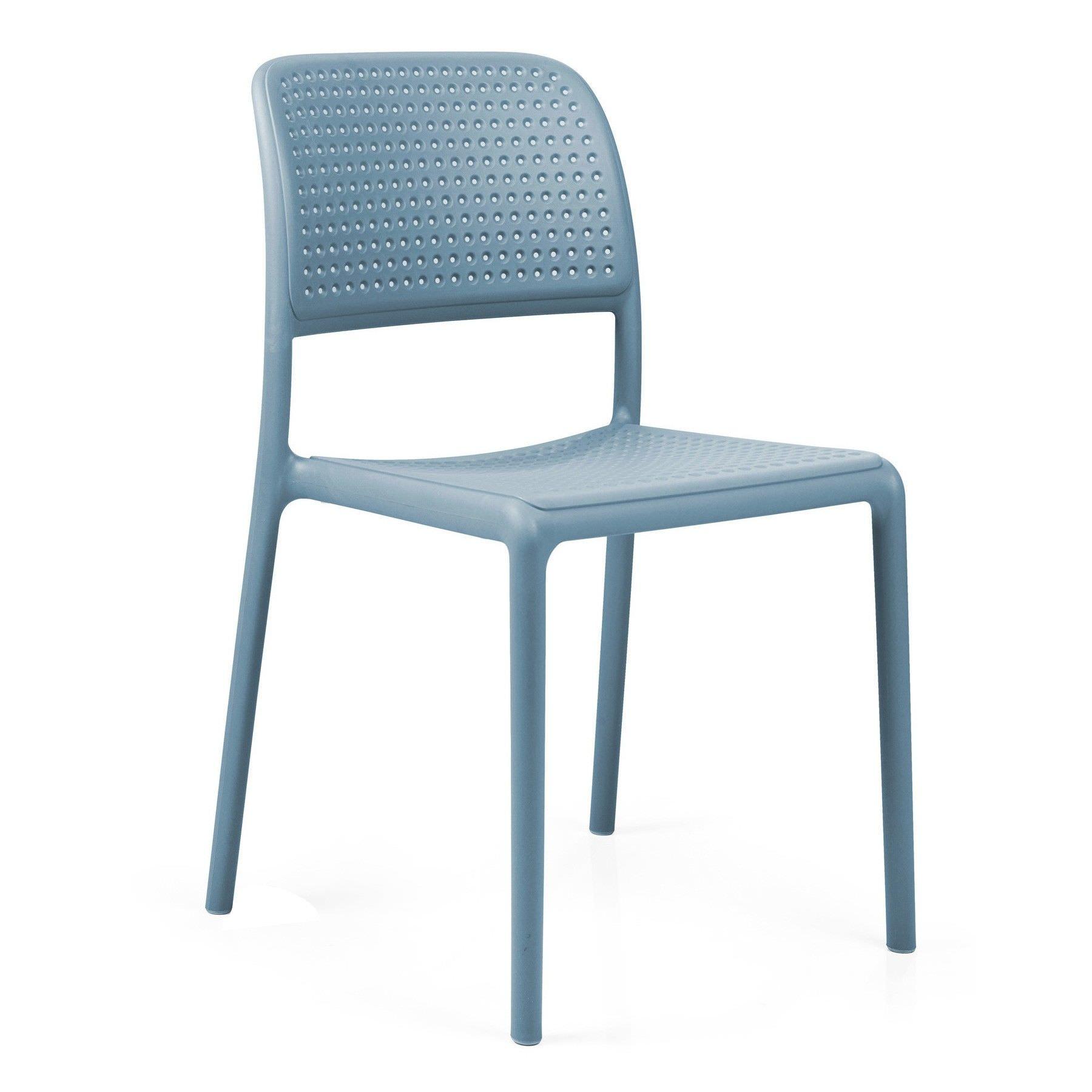Bora Italian Made Commercial Grade Stackable Indoor/Outdoor Side Chair - Blue
