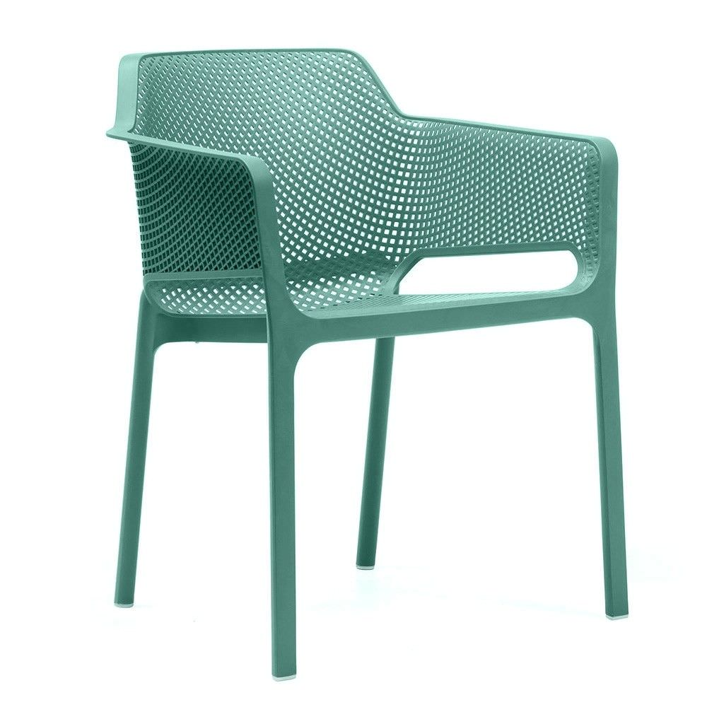 Net Italian Made Commercial Grade Stackable Indoor/Outdoor Armchair - Green