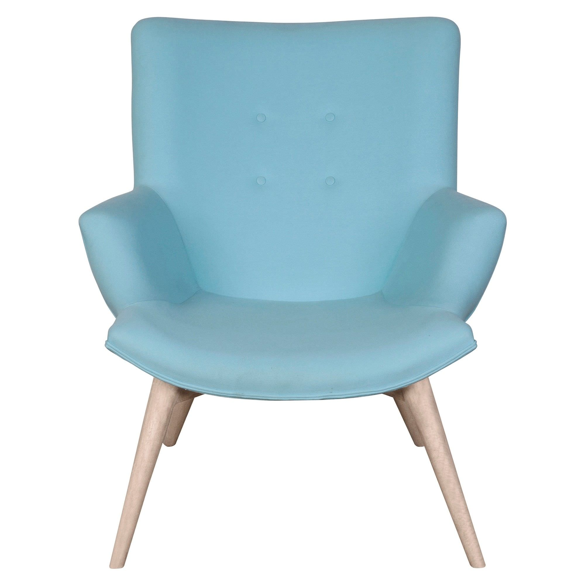 Molton Hand Crafted Fabric Armchair, Blue