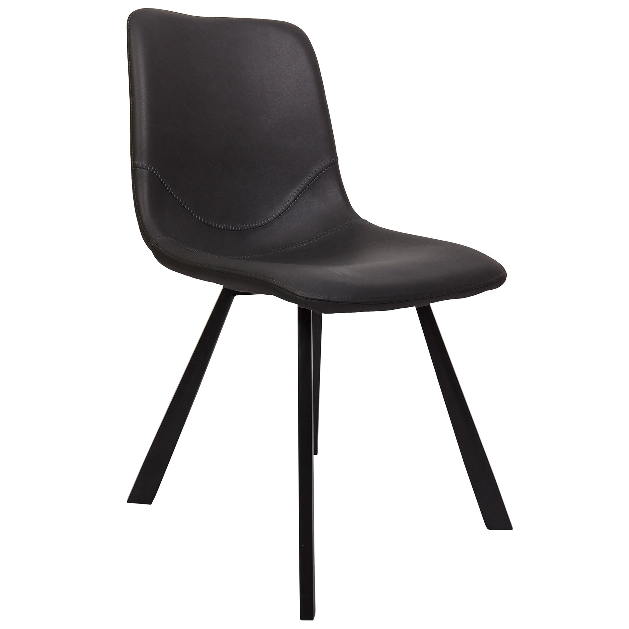 Varun Faux Leather Dining Chair, Antique Black