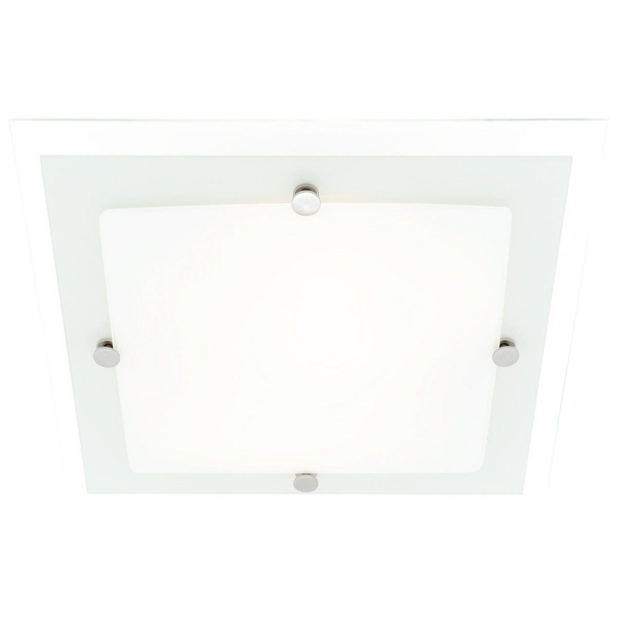 Cougar Essex 36cm 2 Light Oyster Square Ceiling Light