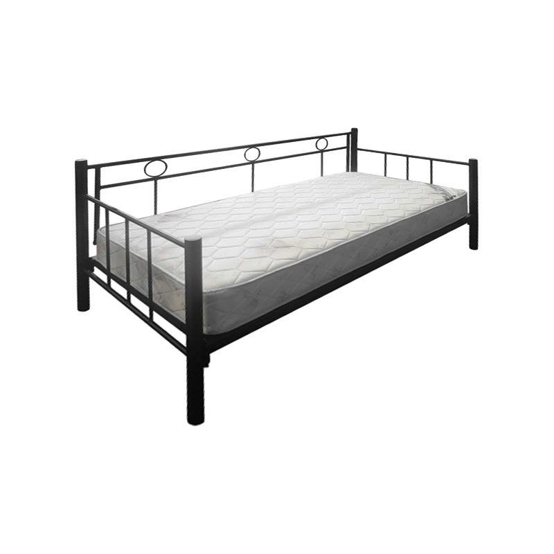 Tubeco Australian Made Metal Day Bed, Single, Gloss Black