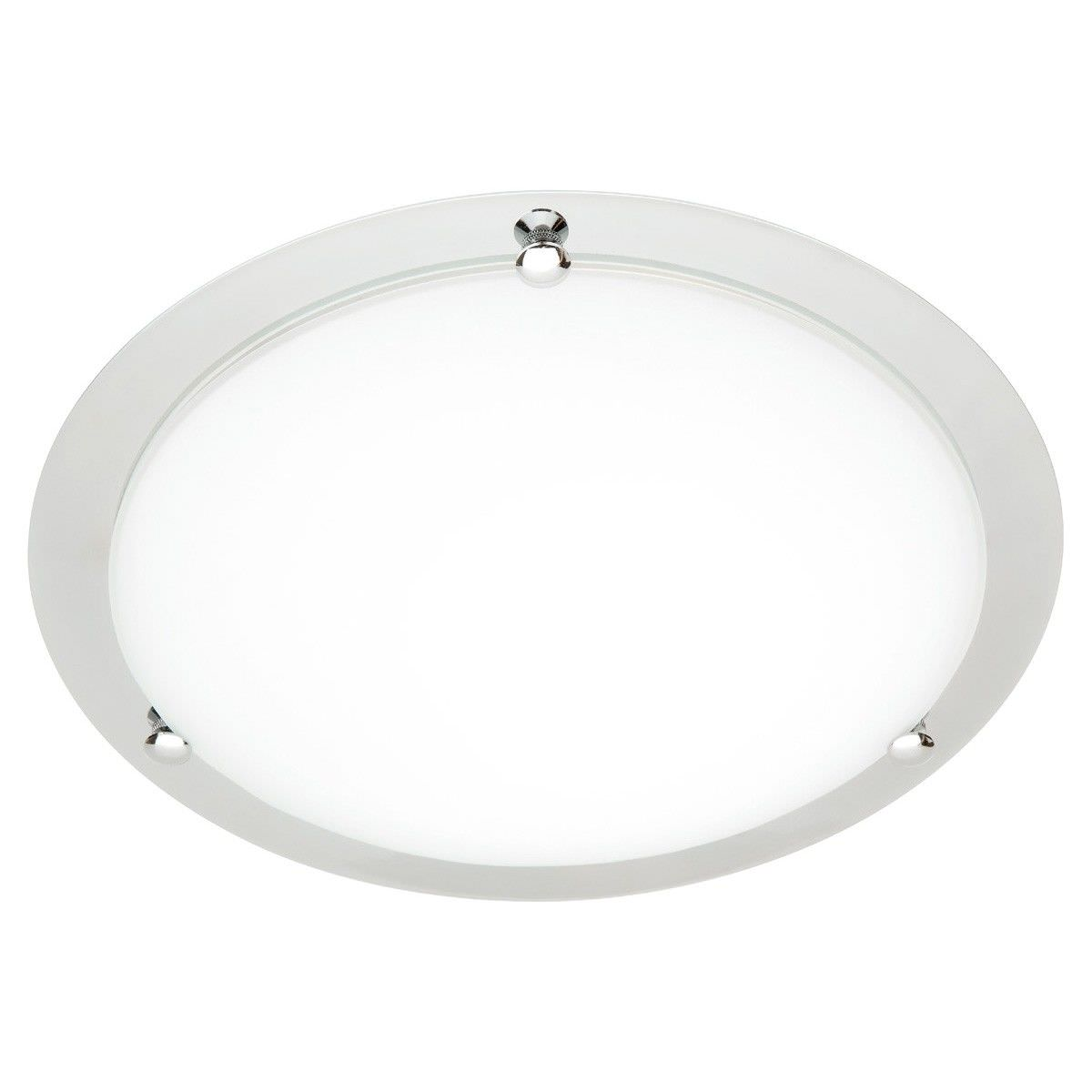 Cougar Detroit Small 1 Light 33cm Oyster Ceiling Light