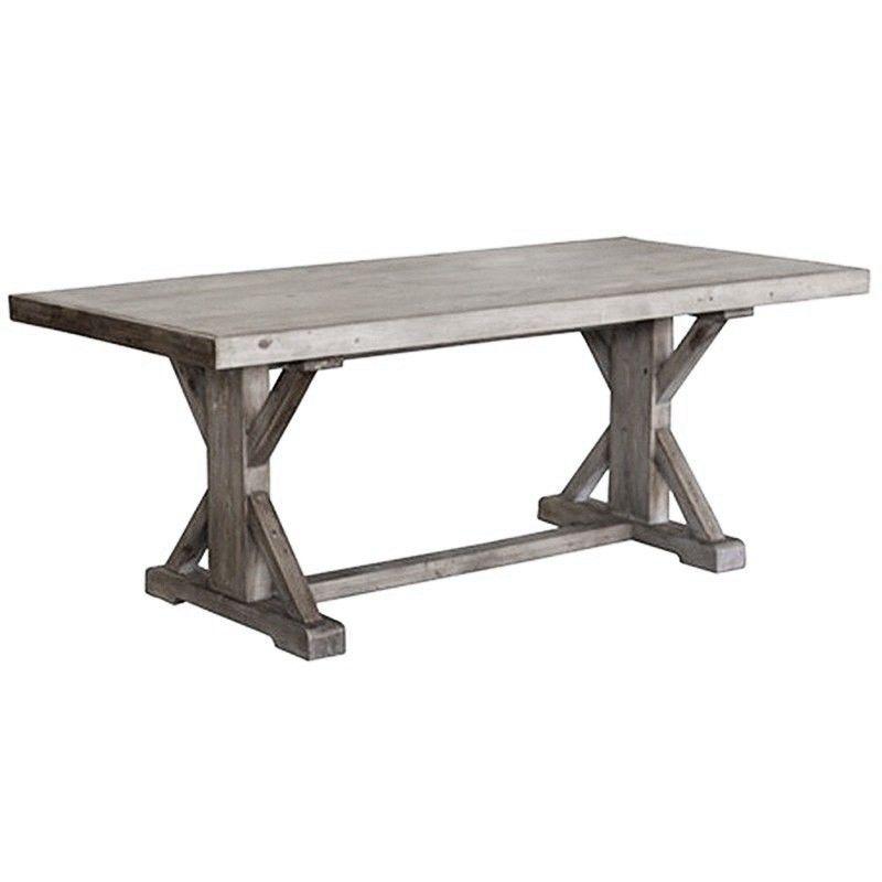 Ballarat Reclaimed Pine Timber 193cm Cross Leg Dining Table