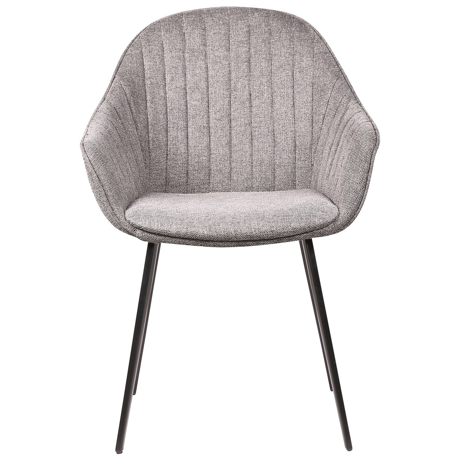 Eford Commercial Grade Fabric Dining Chair, Grey