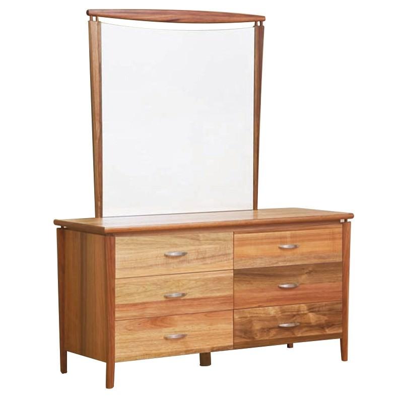 Glendale Dresser with Mirror in Blackwood