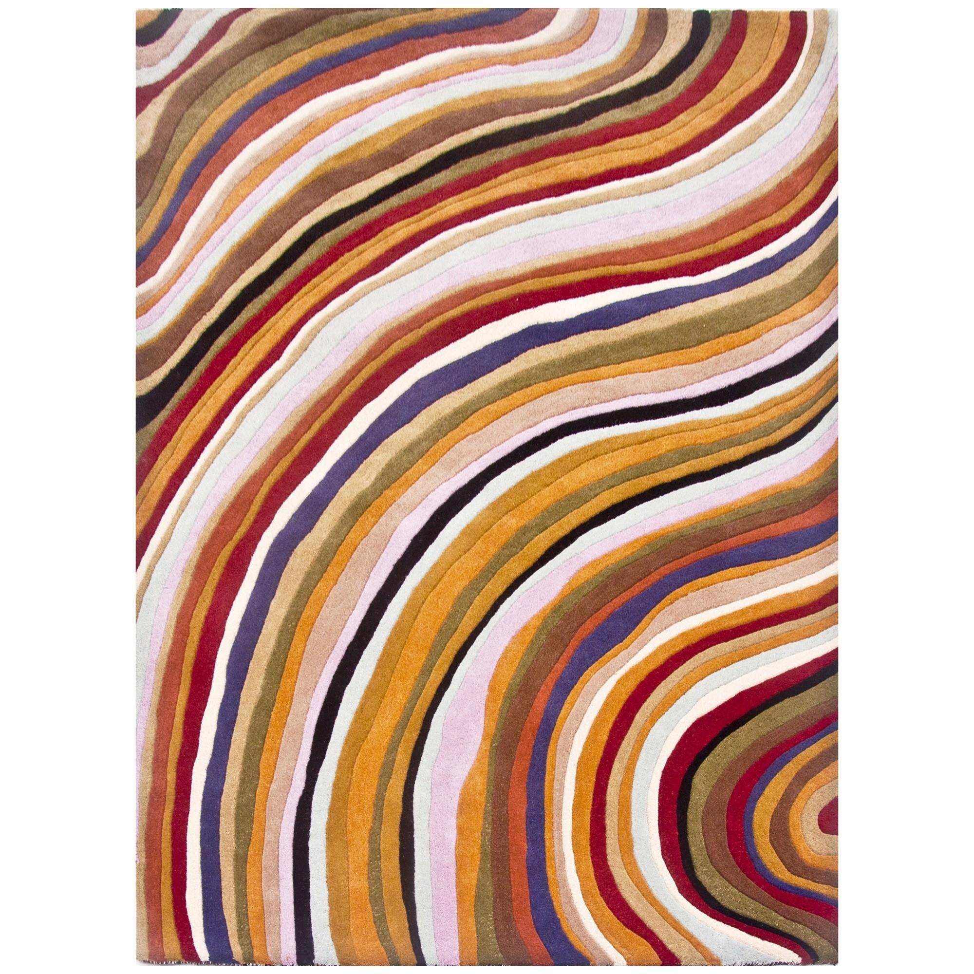 Floor Decor Handwoven Wool Rug, 280x190cm, Warm Tone