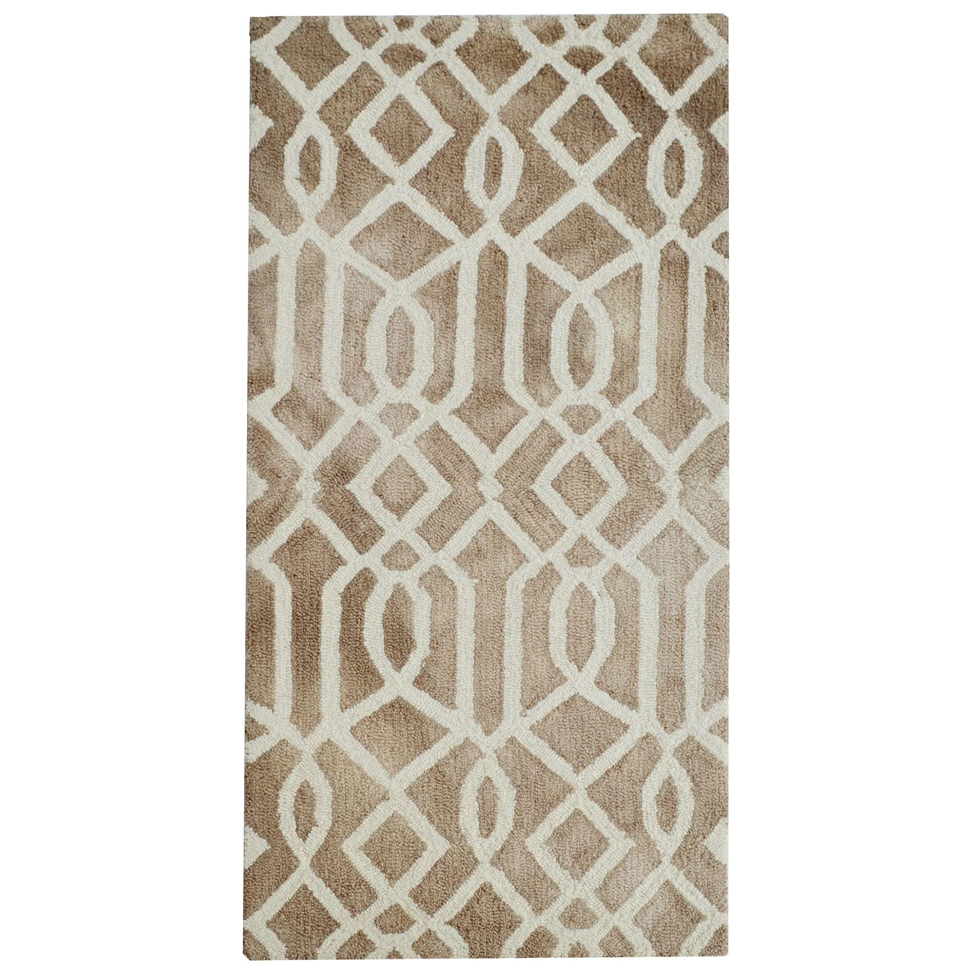 Maryland Tie Dye Wool Rug, 160x110cm, Brown
