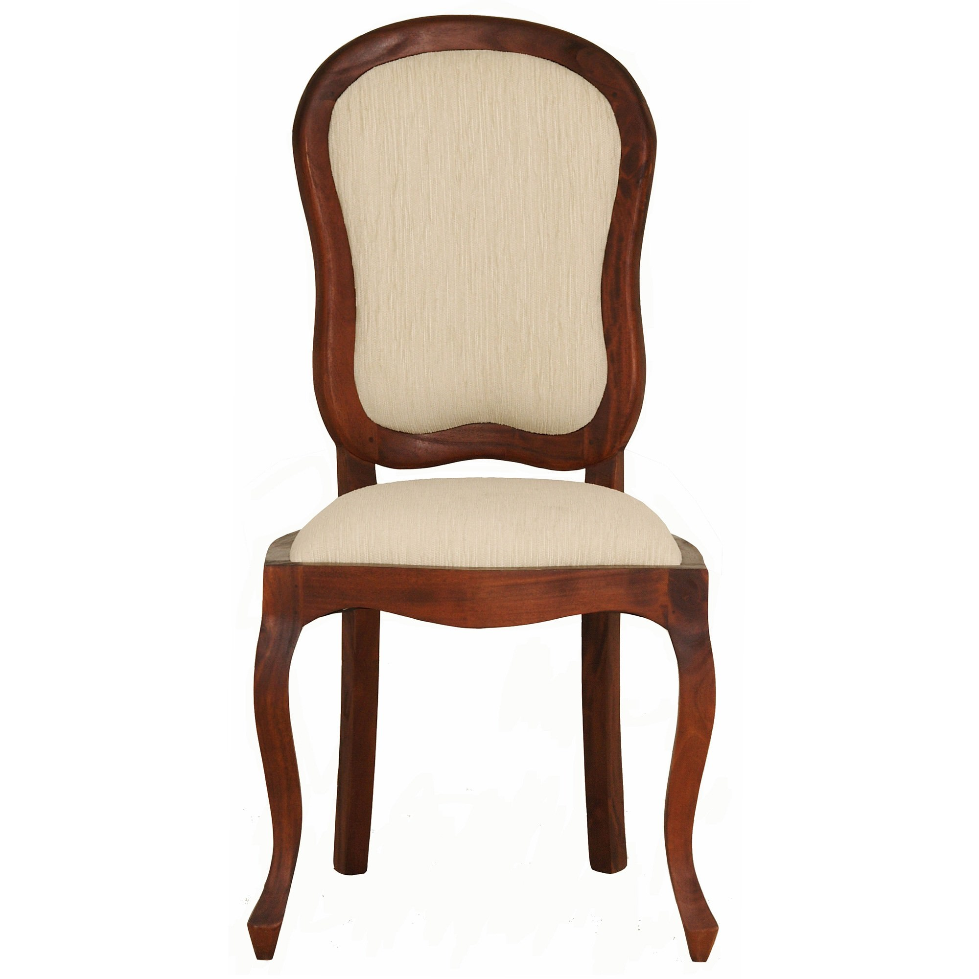 Queen Ann Solid Mahogany Timber Dining Chair - Mahogany