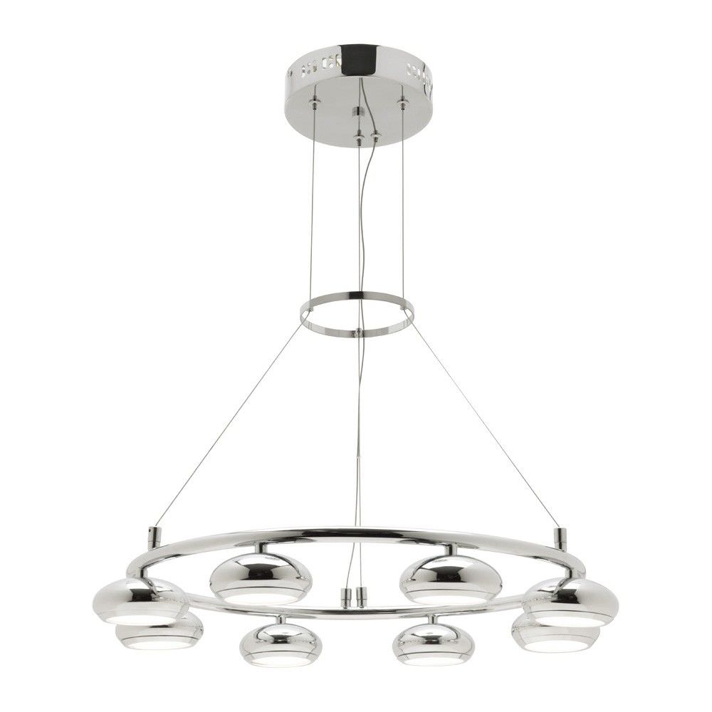 Indy 8 Metal Shade LED Chandelier