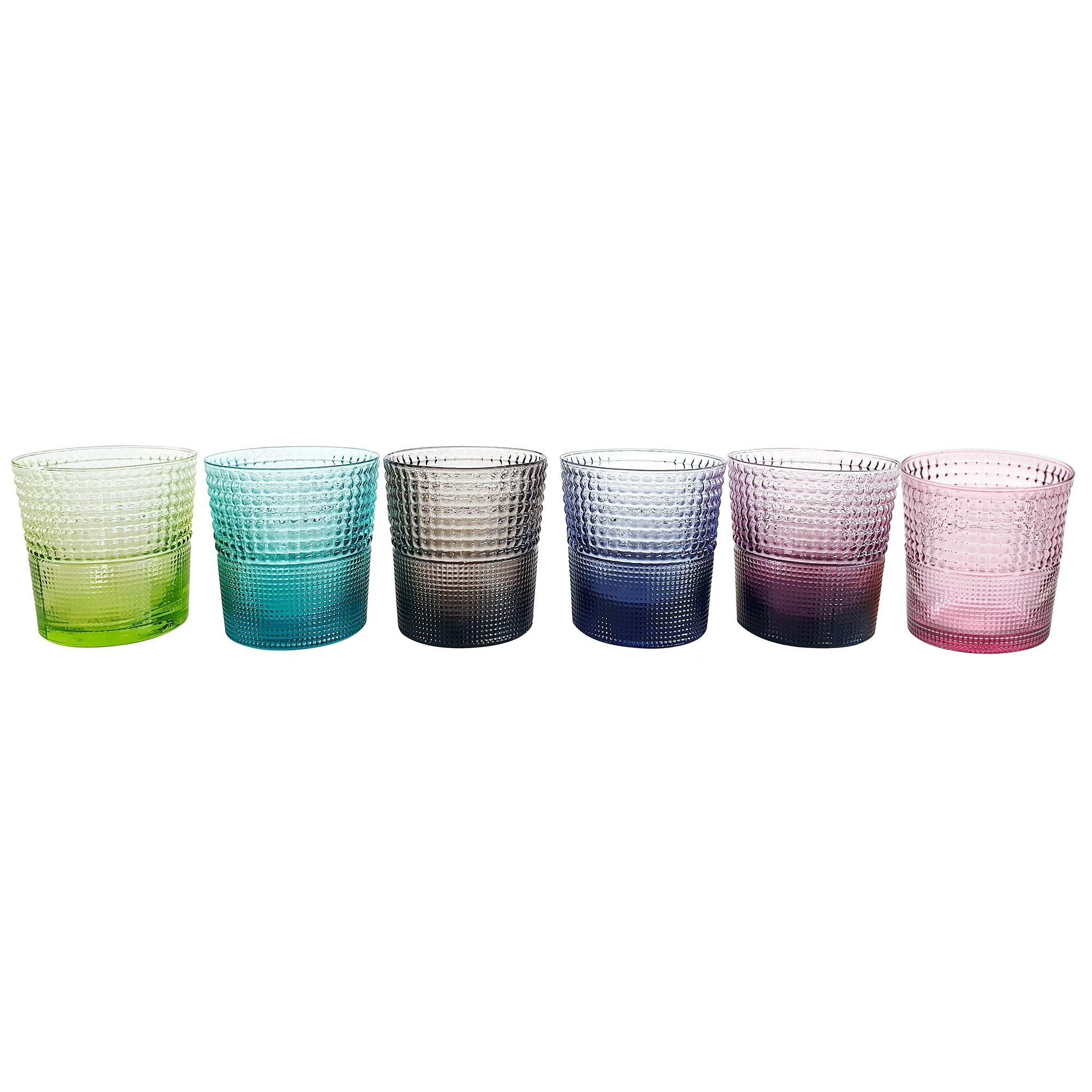 IVV Speedy 6 Piece Assorted Glass Tumblers