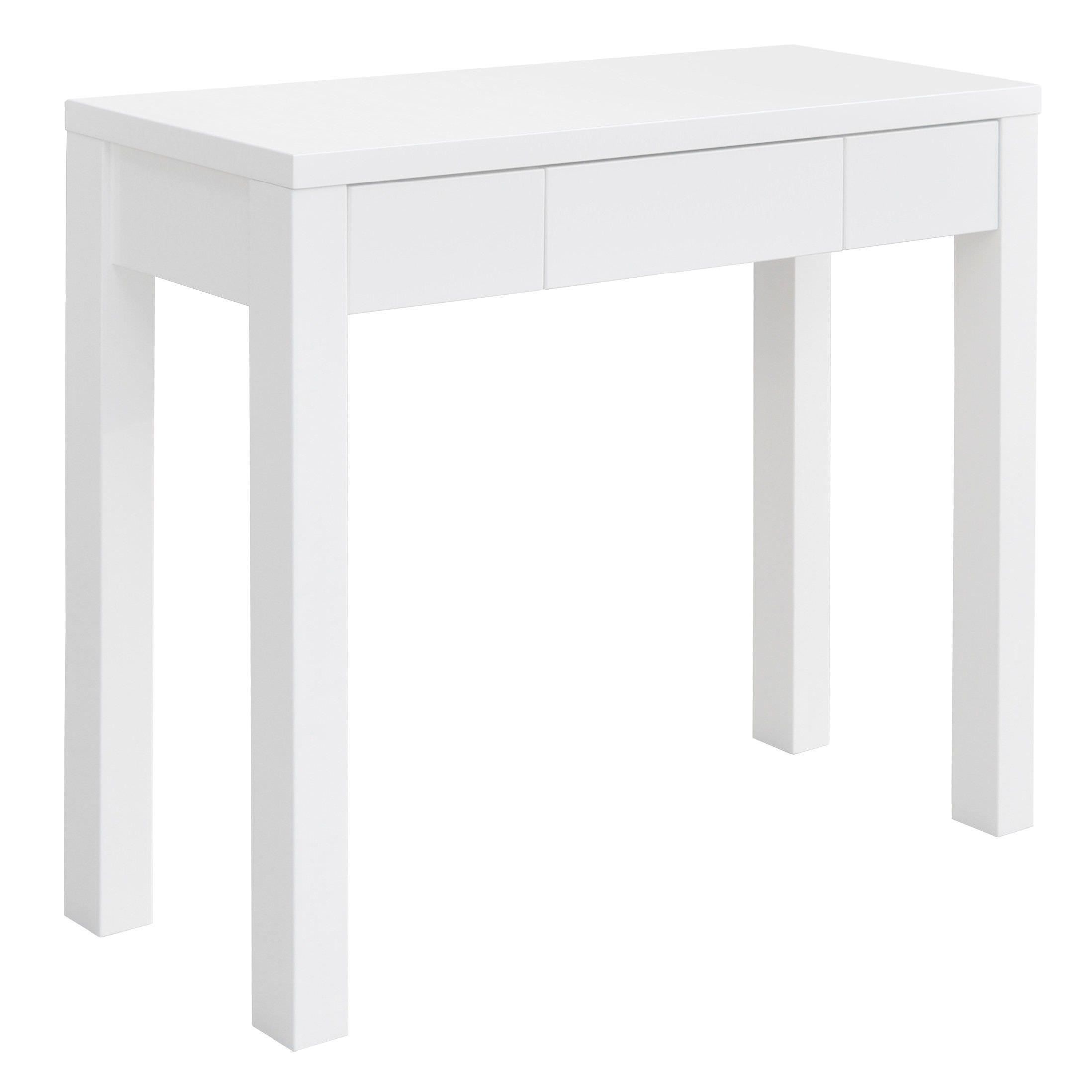 Karen Single Drawer Console Table - White