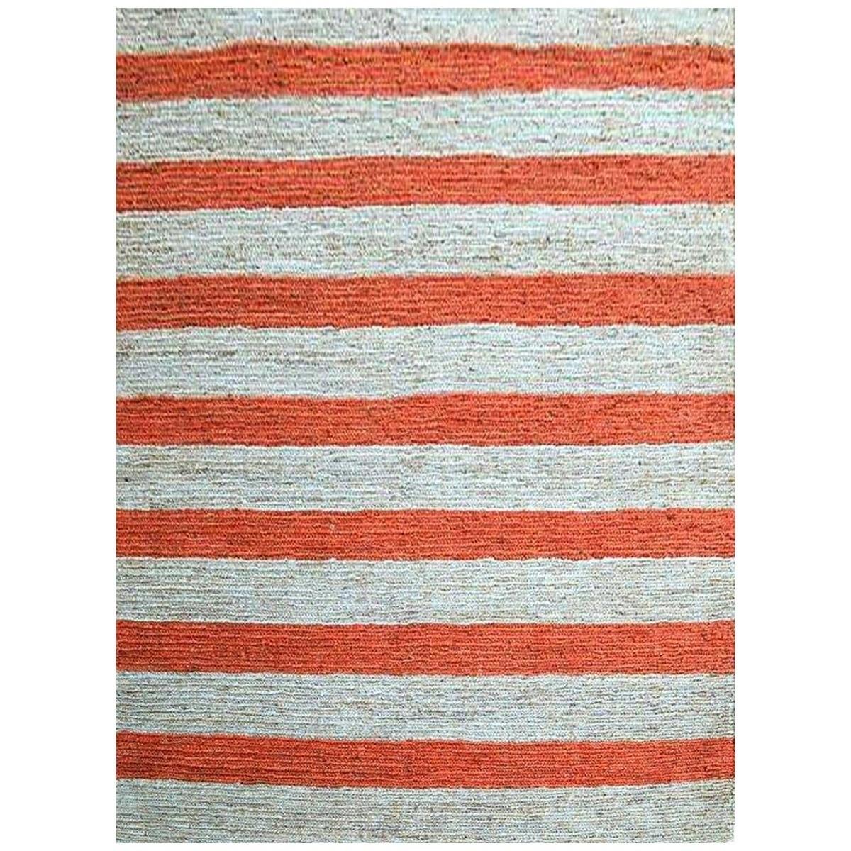 Kerla Handmade Natural Jute Rug in Orange/Natural - 160x230cm