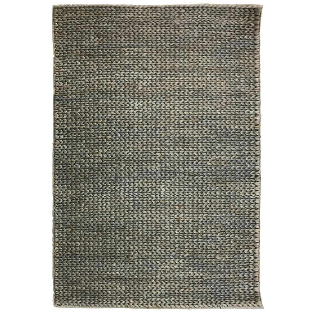 Mamda Hand Braided Jute Rug, 160x110cm, Grey Wash