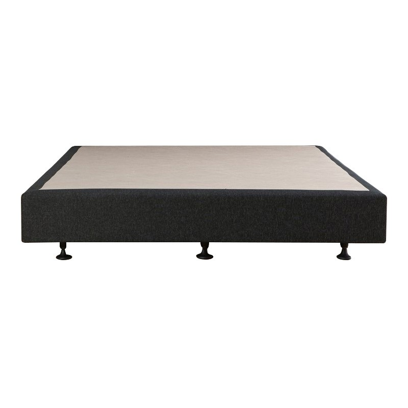 Luca's Fabric Ensemble Bed Base, Double, Charcoal