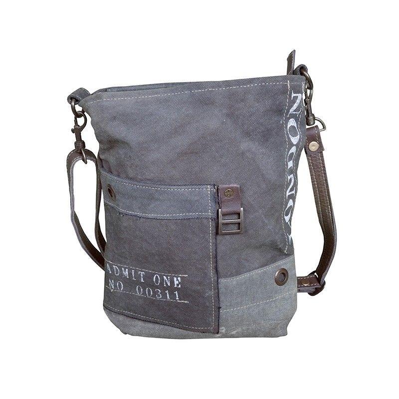 London Canvas Satchel Bag