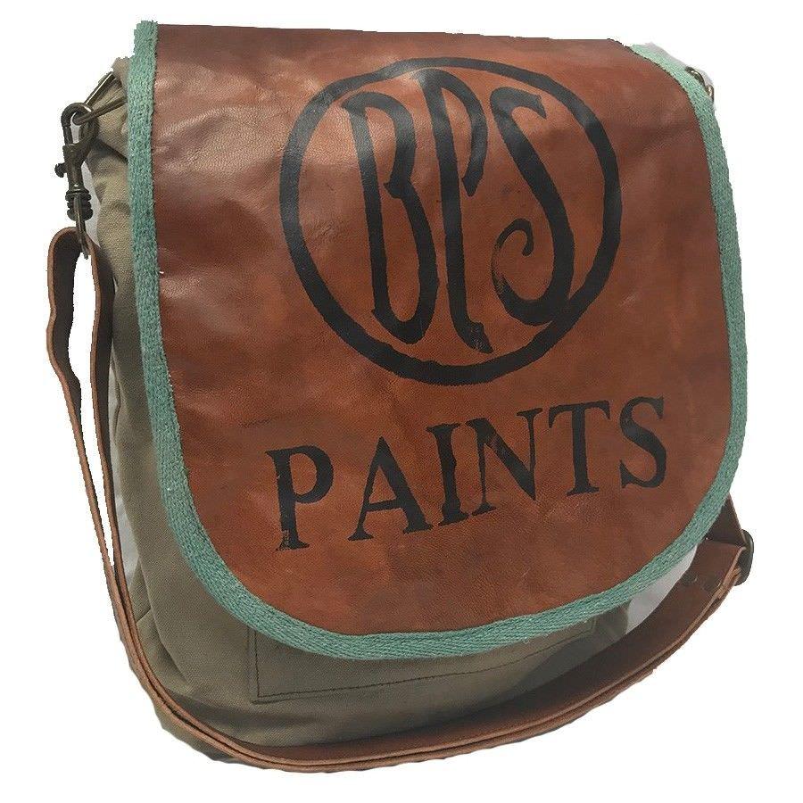 Bps Paints Vintage Hand Made Large Canvas Shoulder Bag