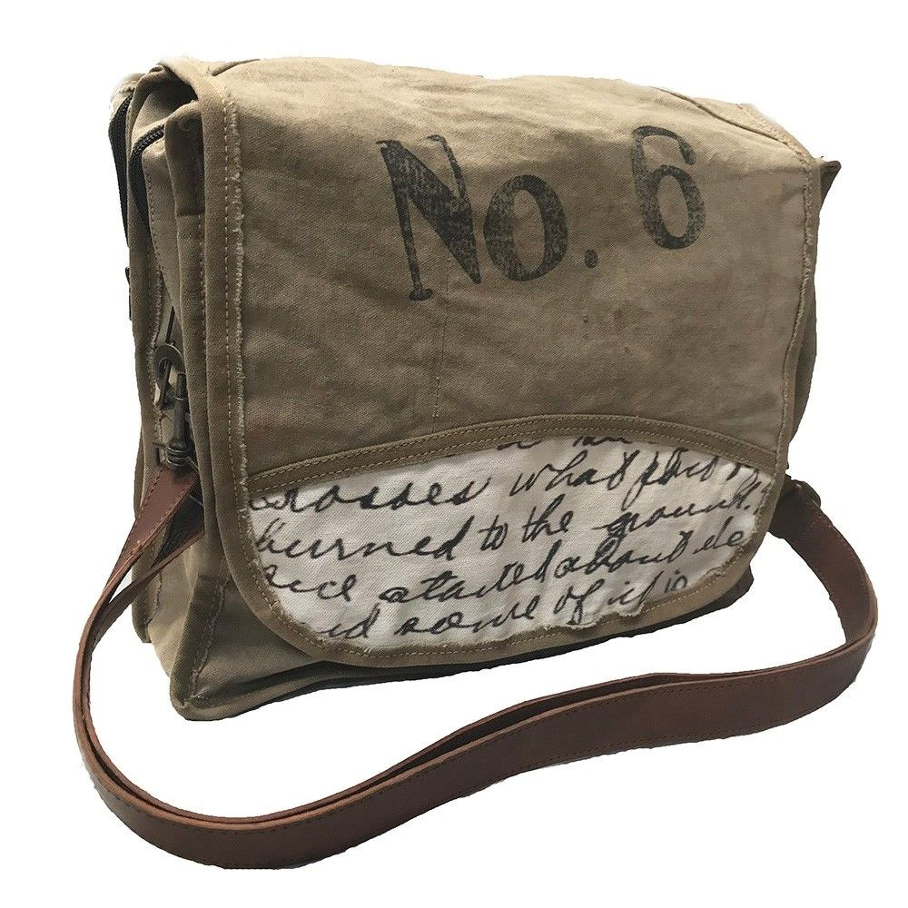 Vintage Hand Made Large Canvas Shoulder Bag