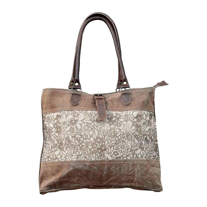 Roma Vintage Hand Made Canvas Tote Bag
