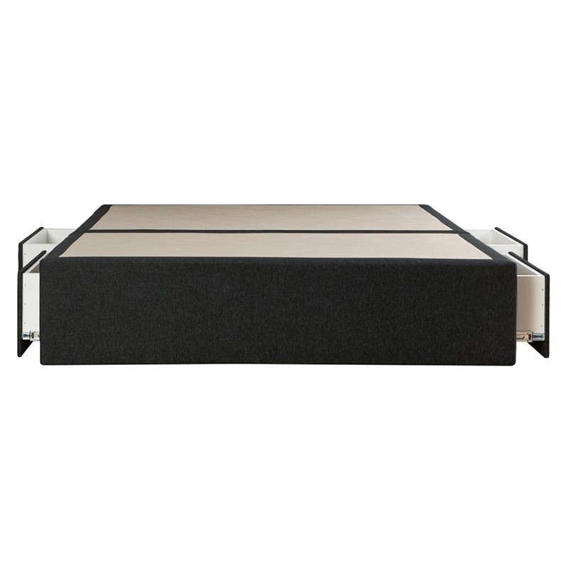 Maxwell's Fabric Ensemble Bed Base with Side Drawers, Double, Charcoal