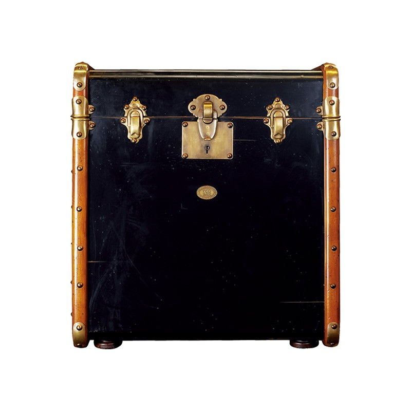 Stateroom Timber Trunk Side Table, Black