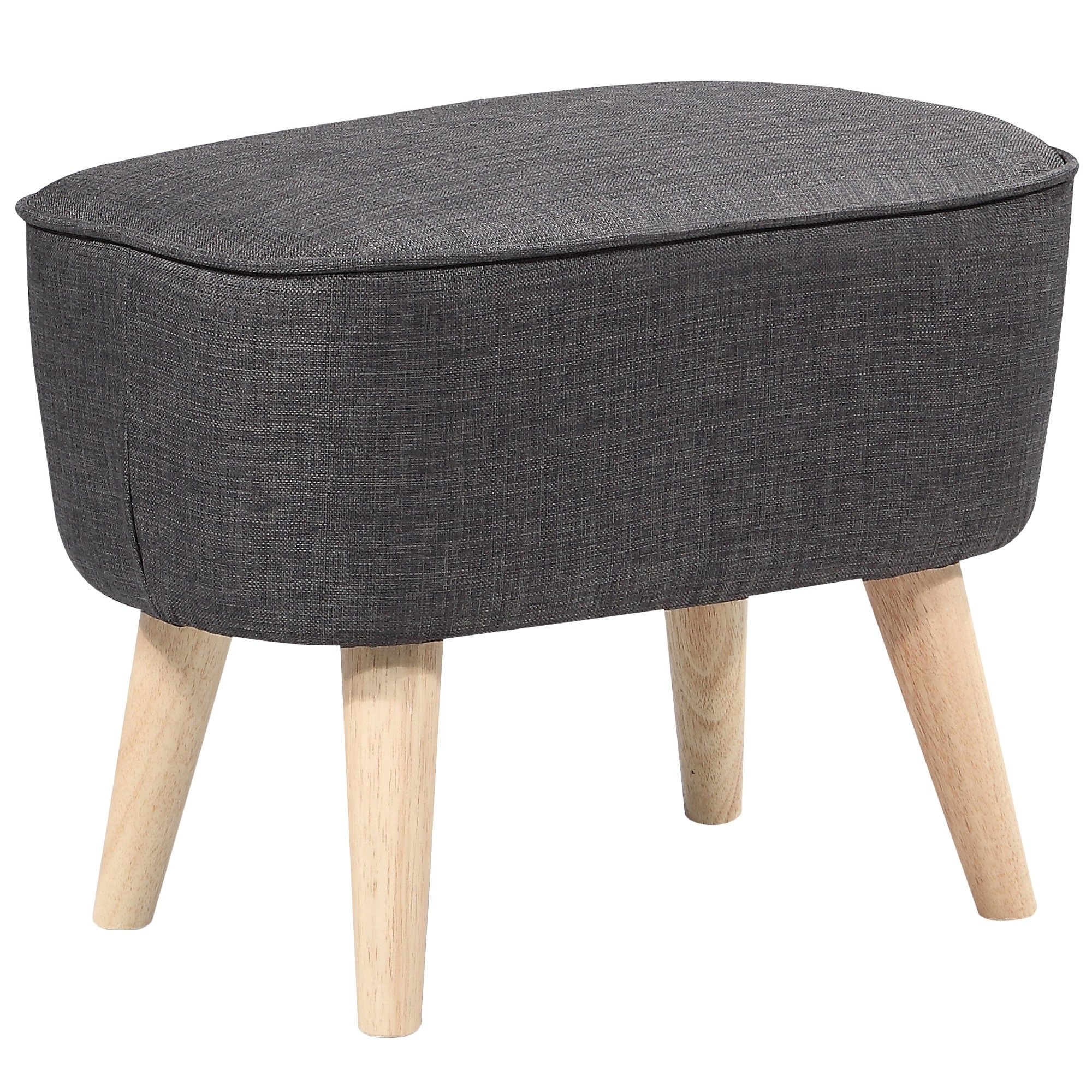Fiesta Commercial Grade Fabric Foot Stool, Charcoal