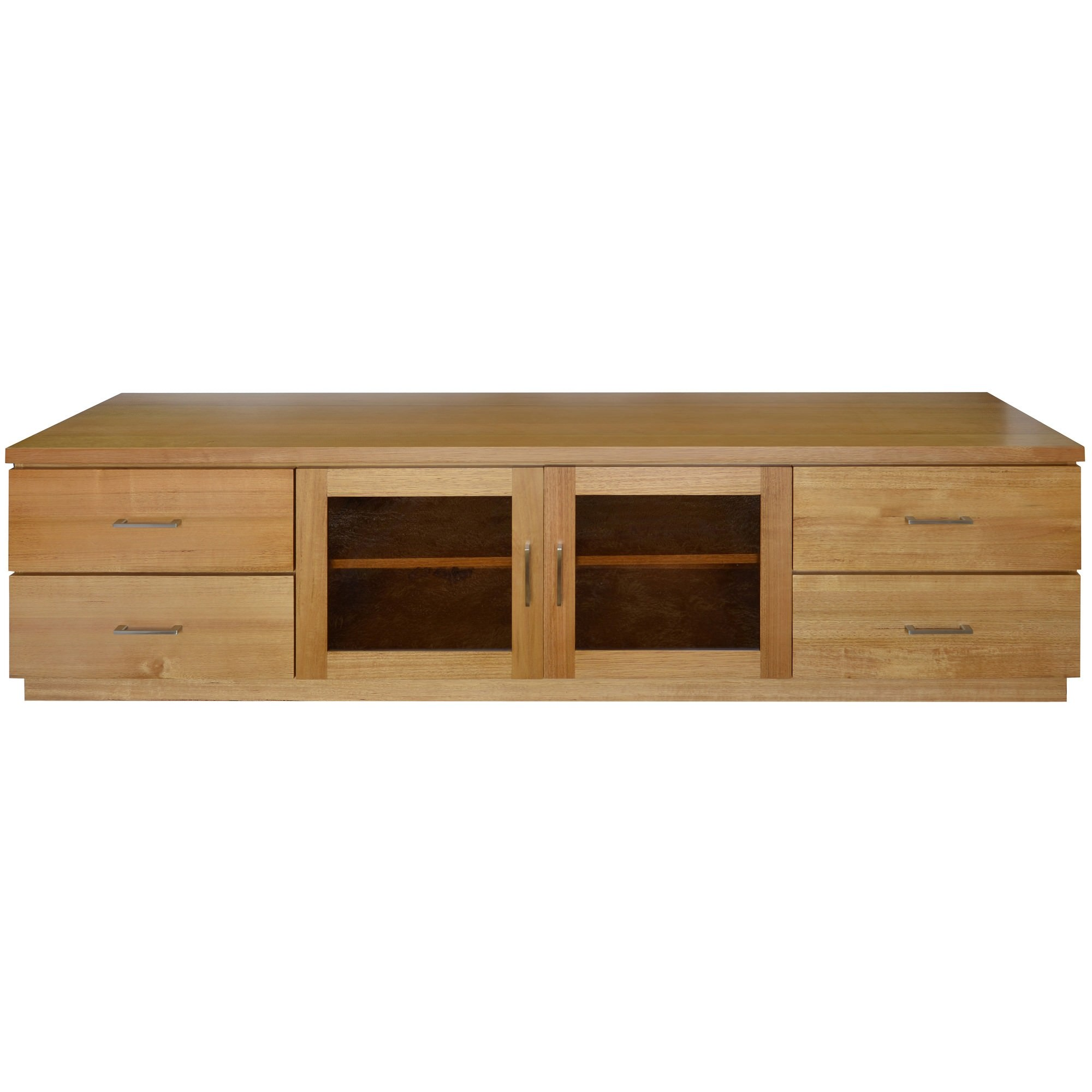 purchase cheap 908a4 7673f Moselia Tasmanian Oak Timber 2 Door 4 Drawer TV Unit, 200cm, Wheat