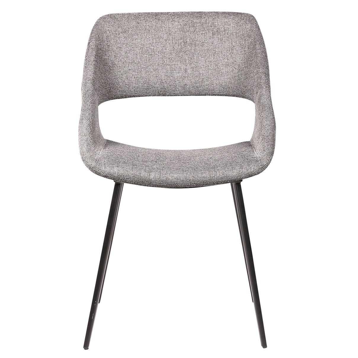 Nancy Commercial Grade Fabric Dining Chair, Grey