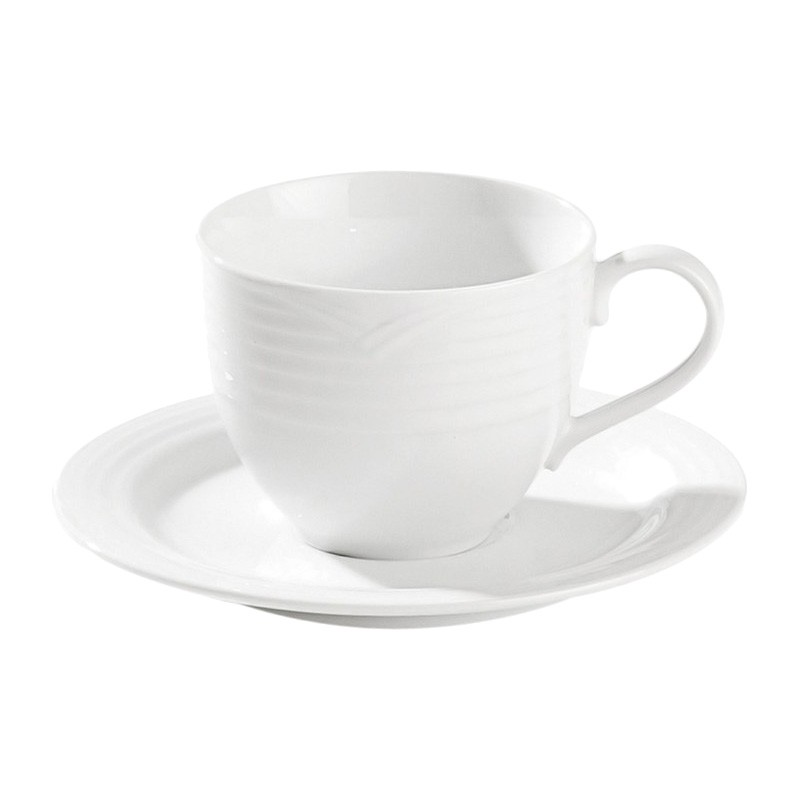 Noritake Arctic White Fine China Teacup with Saucer
