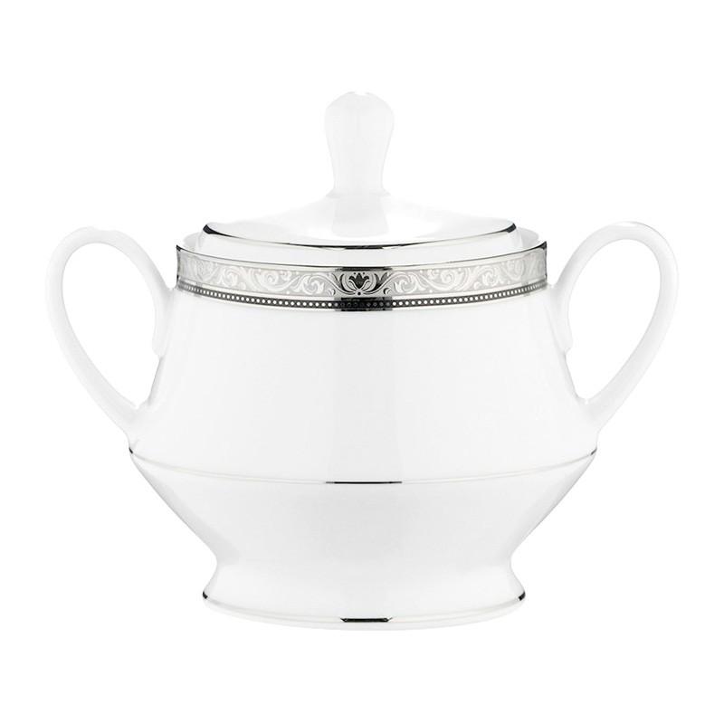 Noritake Regent Platinum Fine China Sugar Bowl
