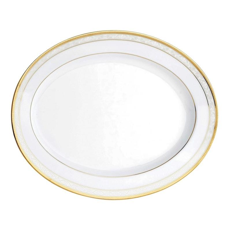 Noritake Hampshire Gold Fine China Oval Platter