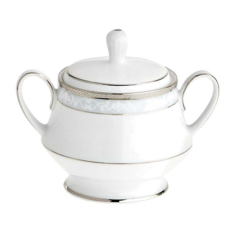 Noritake Hampshire Platinum Fine Porcelain Sugar Bowl