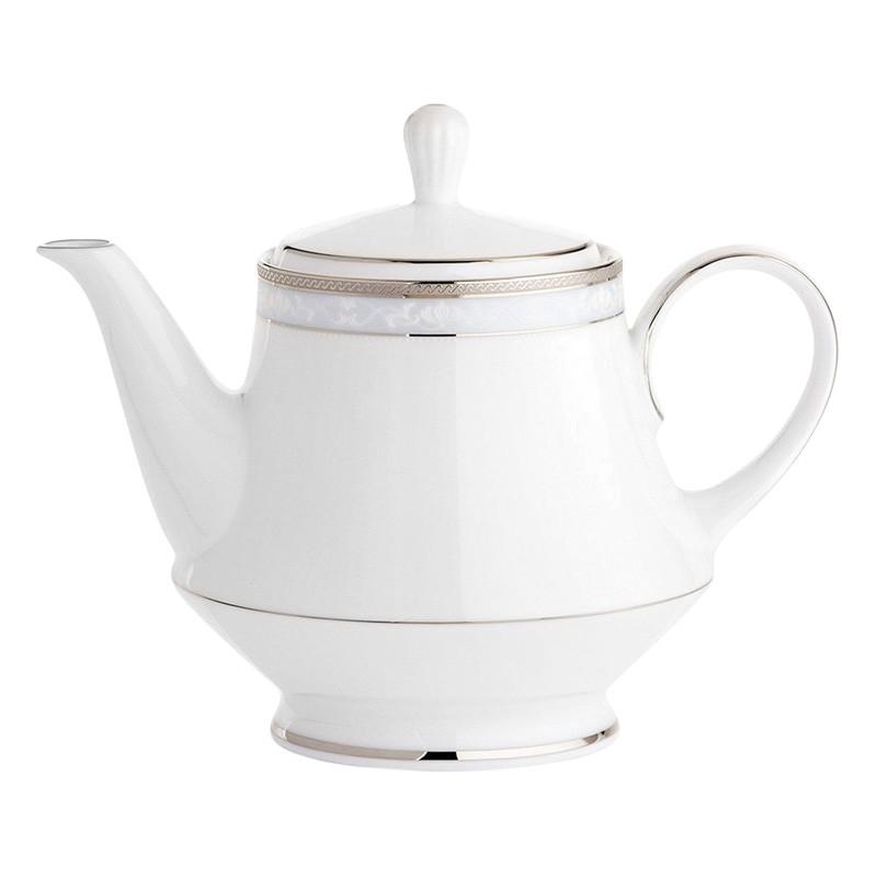 Noritake Hampshire Platinum Fine Porcelain Tea Pot