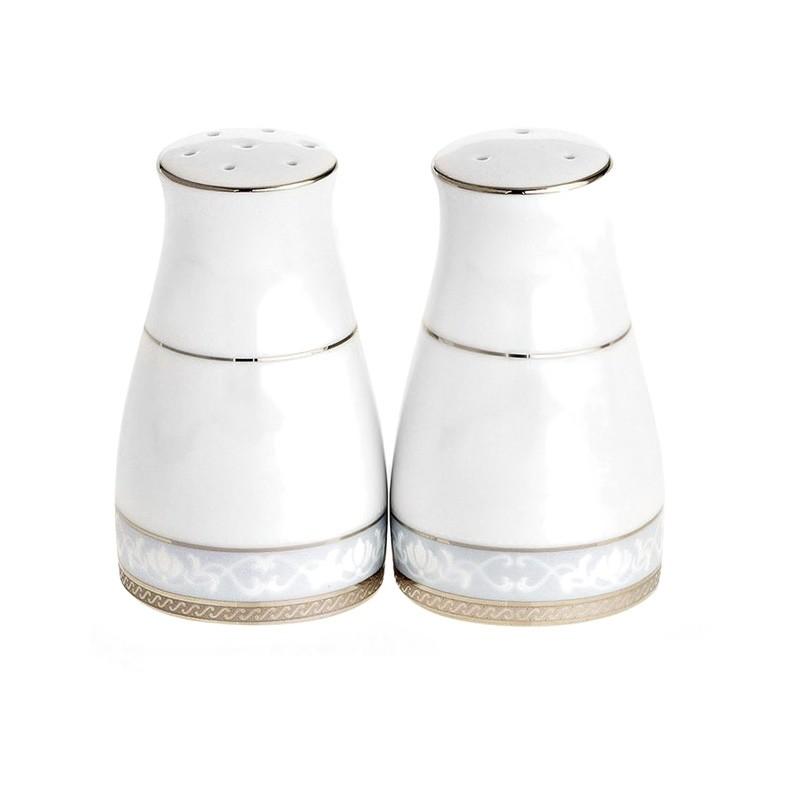 Noritake Hampshire Platinum Fine Porcelain Salt & Pepper Shaker