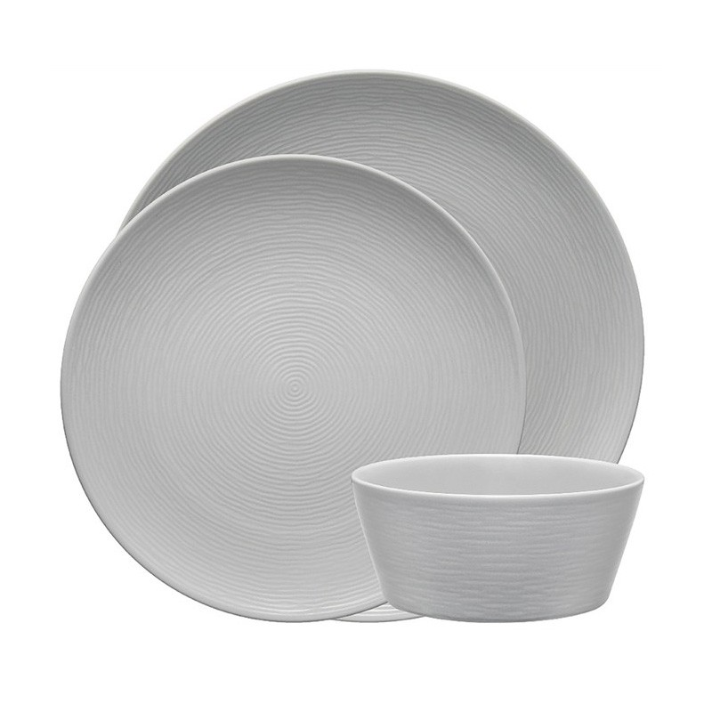 Noritake Colorscapes GOG Swirl 12 Piece Fine Porcelain Dinner Set