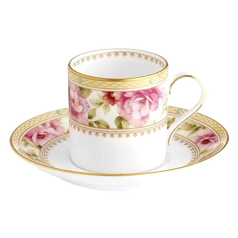Noritake Hertford Bone China Espresso Cup and Saucer Set