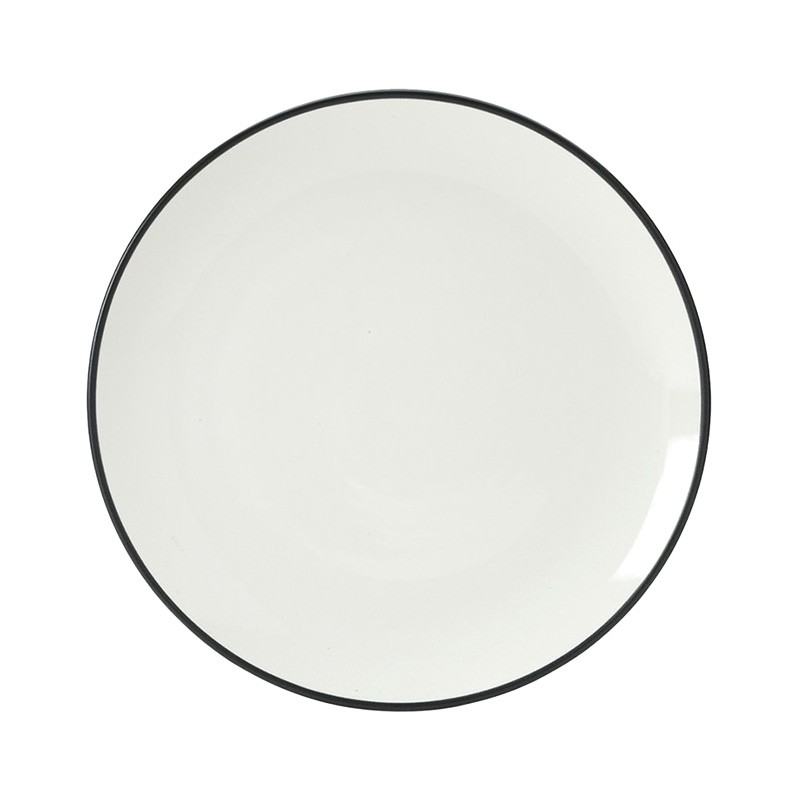 Noritake Colorwave Graphite Coupe Dinner Plate