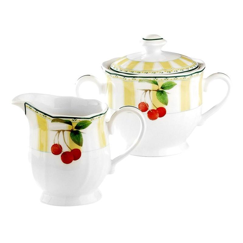 Noritake Orchard Valley Porcelain Sugar and Creamer Set