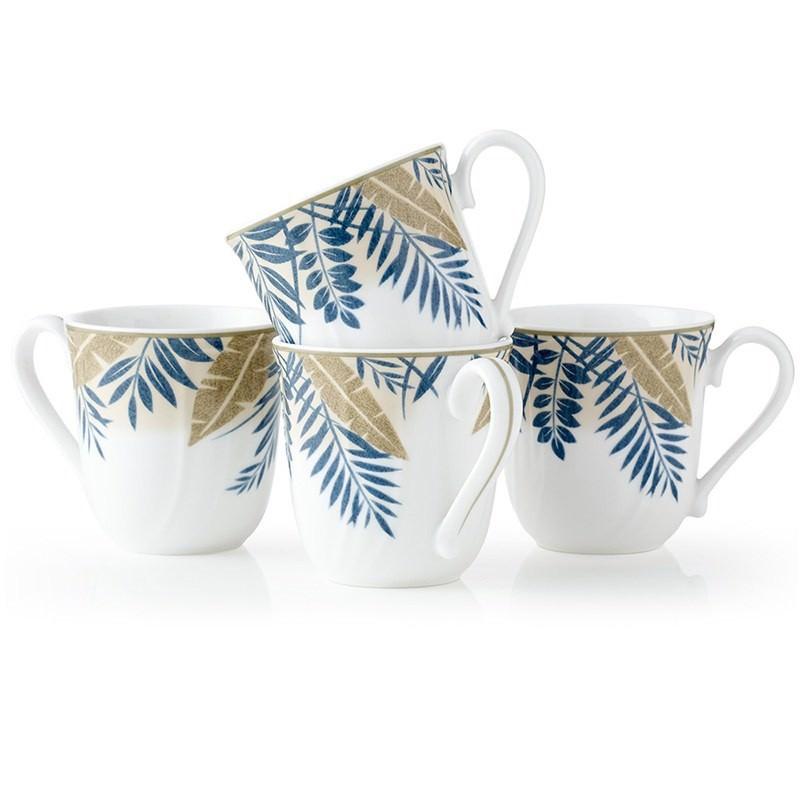 Noritake Batik Garden 4 Piece Mug Set