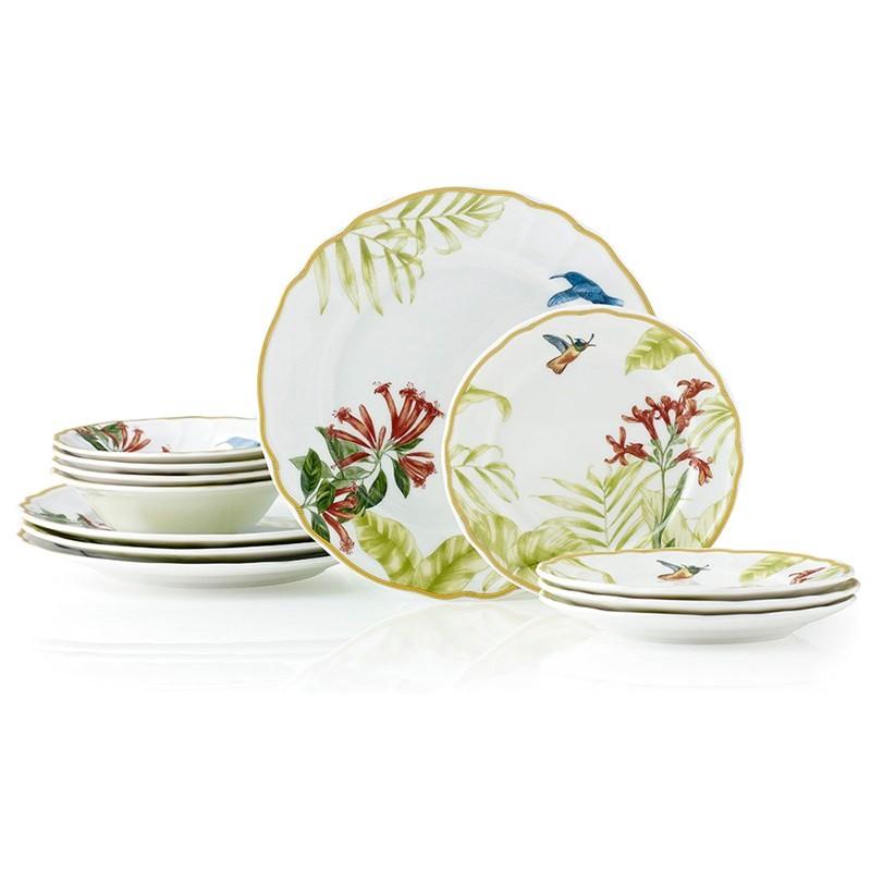 Noritake Hummingbird Meadow 12 Piece Dinner Set