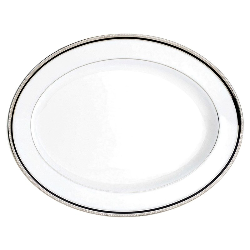 Noritake Toorak Noir Fine China Oval Platter