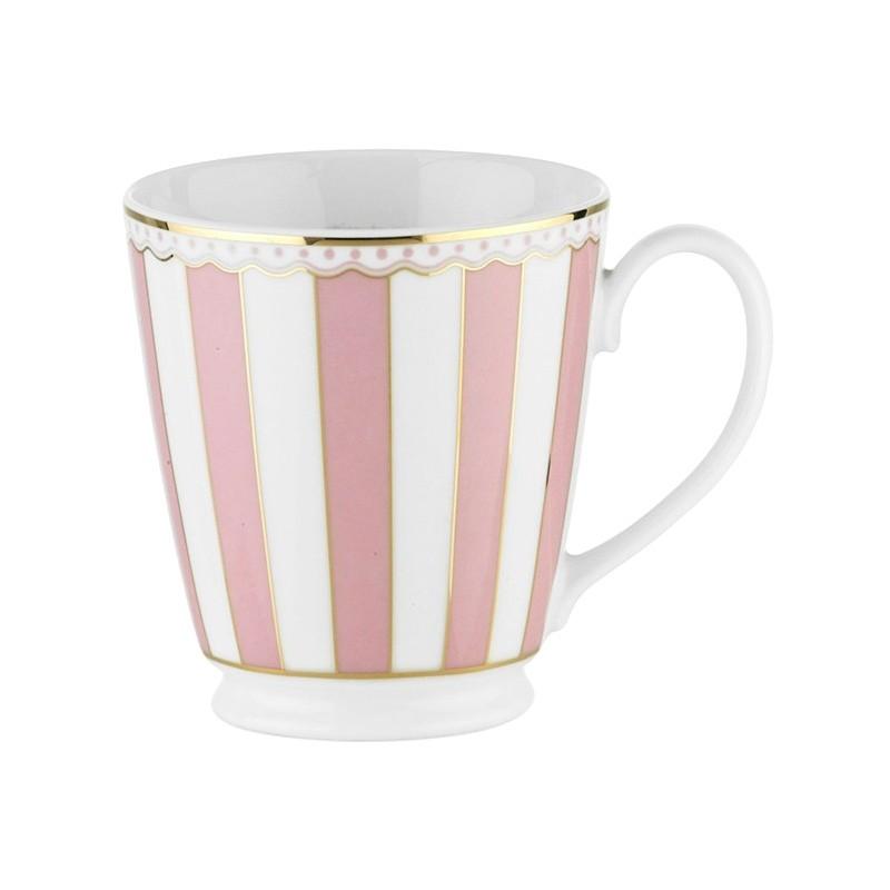 Noritake Carnivale Fine Porcelain Mug, Pink
