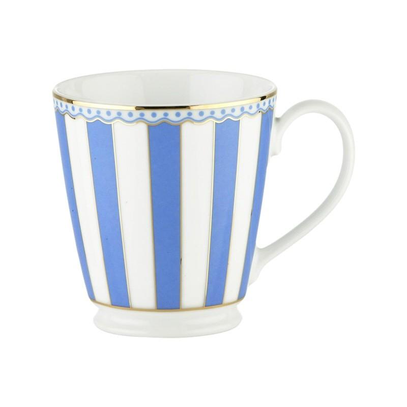 Noritake Carnivale Fine Porcelain Mug, Dark Blue
