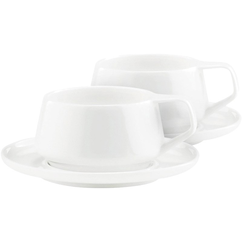 Marc Newson by Noritake Set of 2 Fine Bone China Cup and Saucer Sets