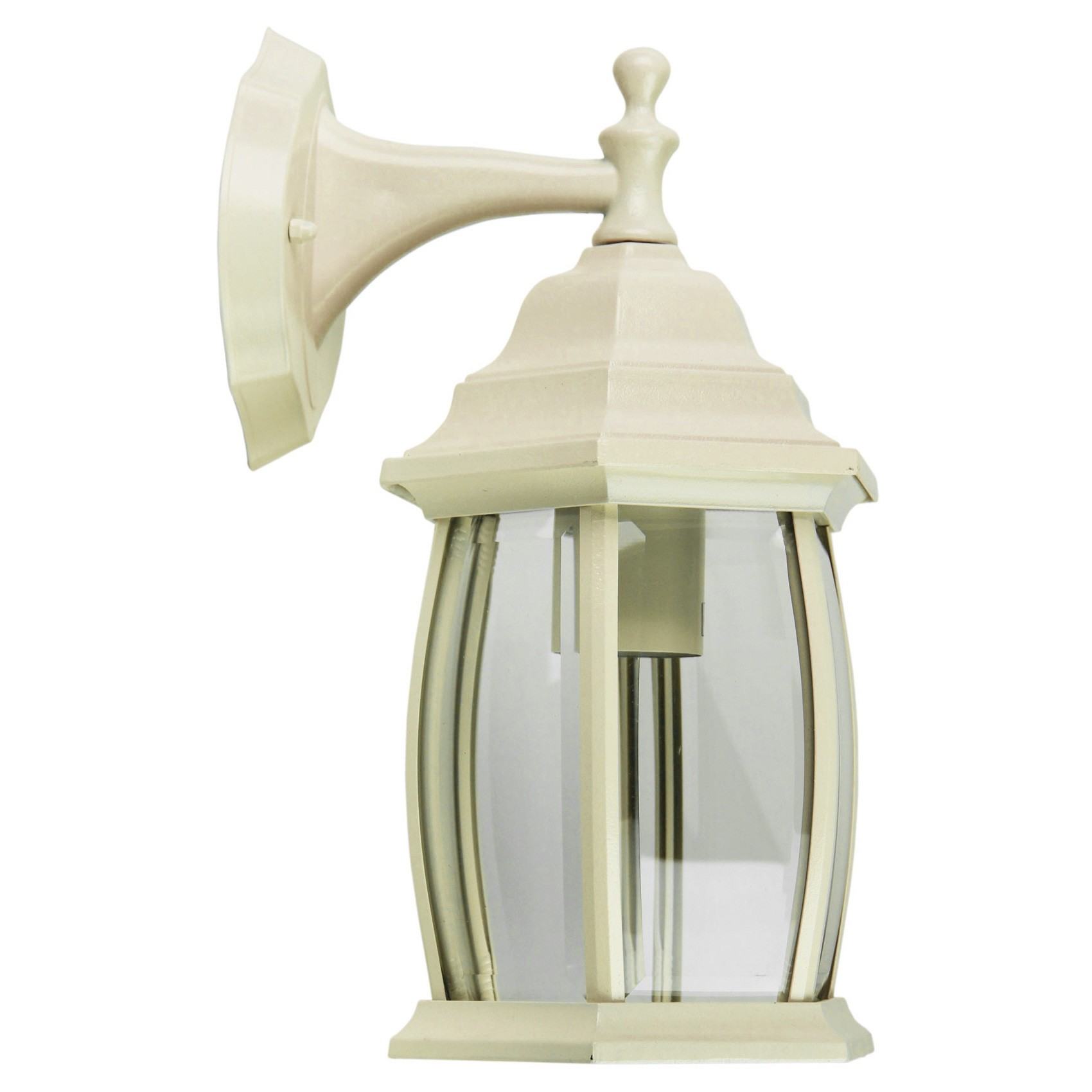 Highgate IP44 Exterior Down Facing Wall Light, Beige