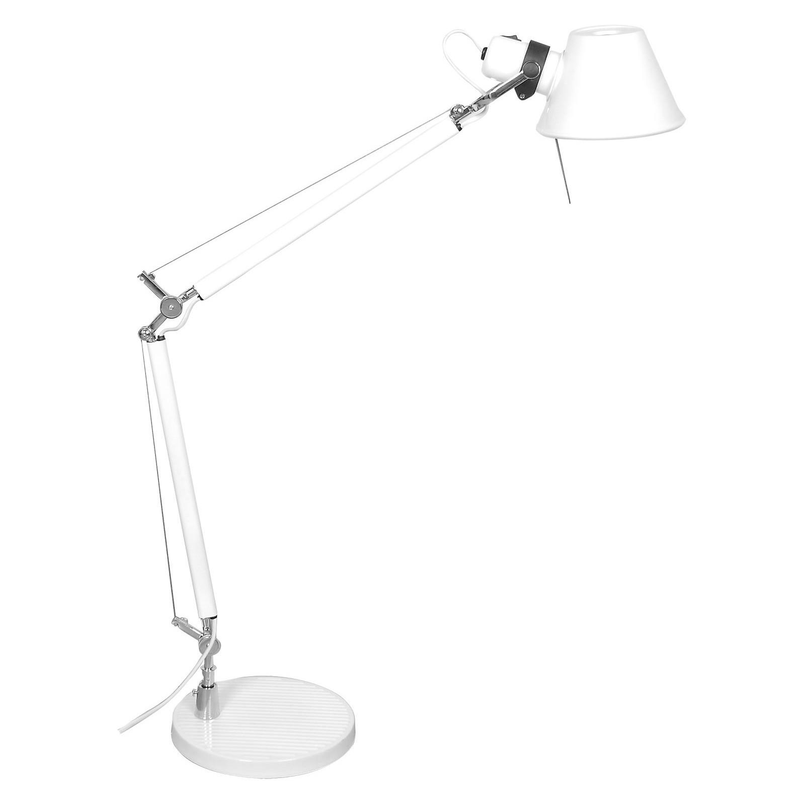 Forma Metal Adjustable Desk Lamp, White
